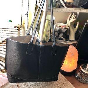 Frye Bags - FRYE Black Leather Handbag